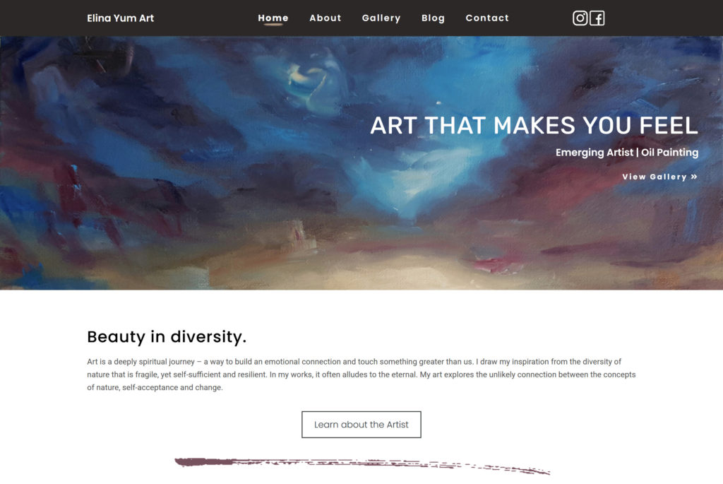 Elina Yum Art Webdesign Portfolio